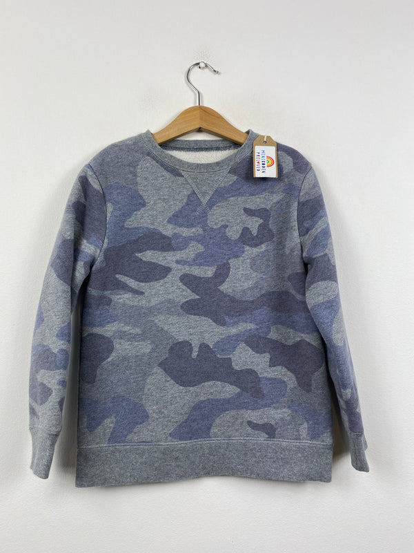 Fleece Lined Muted Grey Camo Jumper (6-7 Years)
