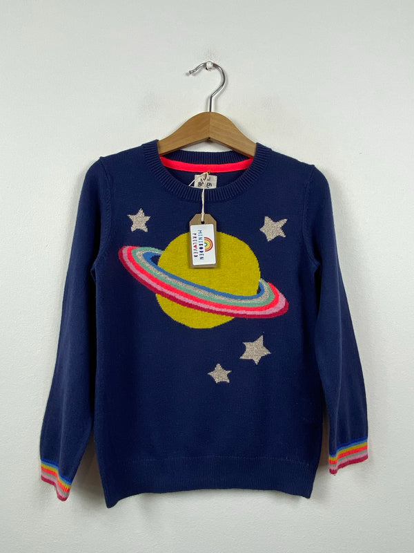 Navy Knitted Planet Jumper (5-6 Years)
