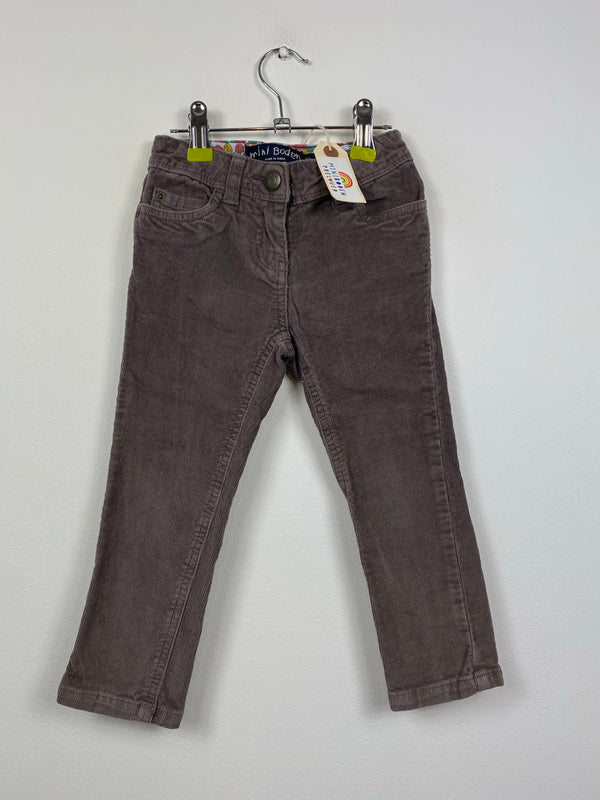 Brown Needlecord Slim Trousers (3 Years)