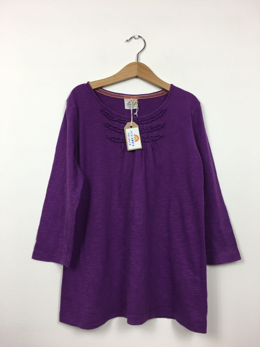Frill Neck Purple Long Sleeved Top (11-12 Years)