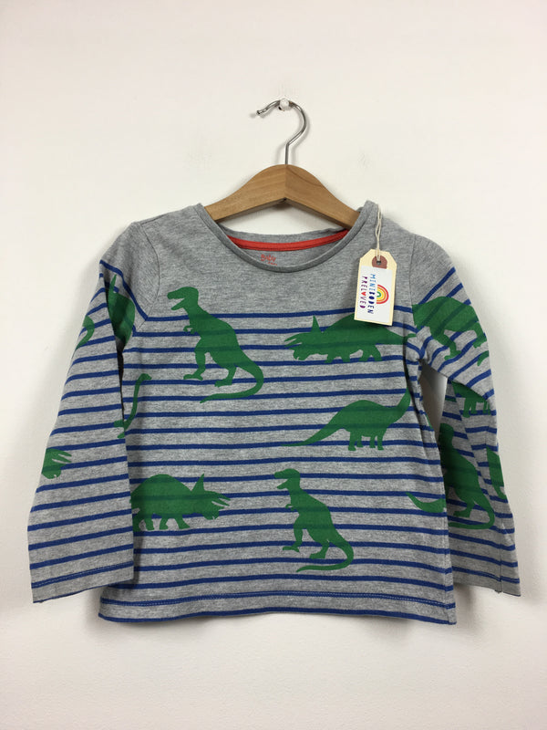 Dino Print Grey Top (12-18 Months)