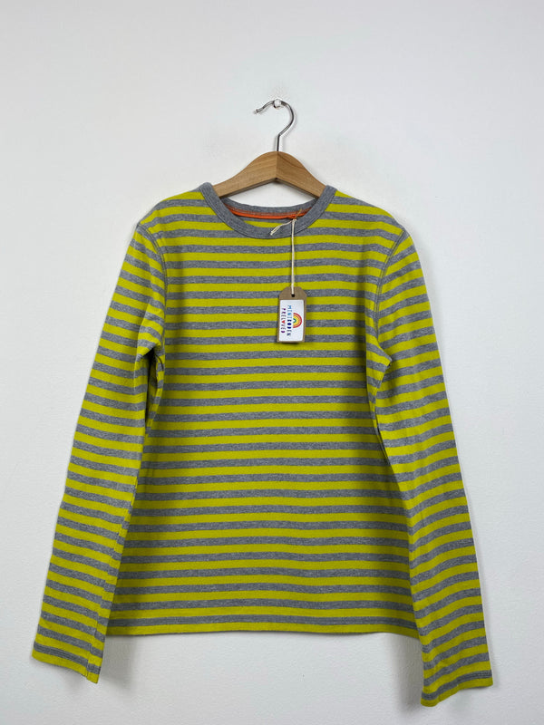 Grey & Yellow Long Sleeved Top (11-12 Years)