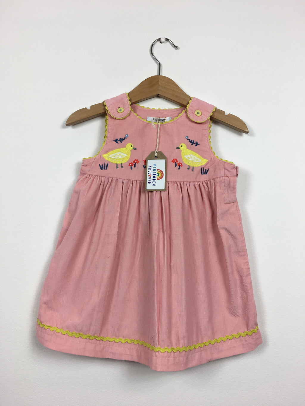 Beautiful Pink Cord Embroidered Chicks Dress (Age 6-12 Months)