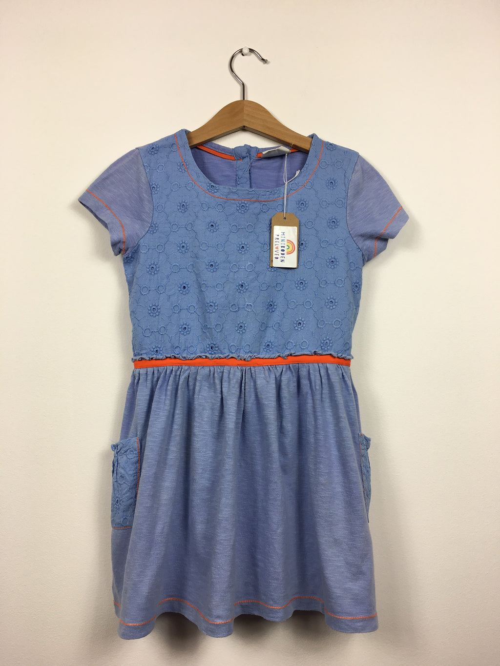 Pretty Embroidered Blue Dress (Age 4-5 Years)