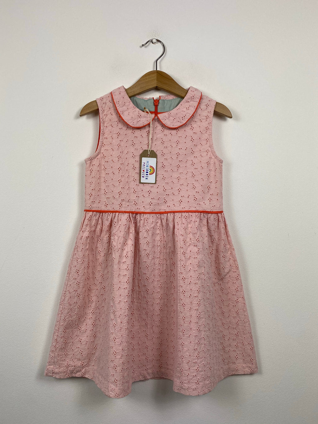Pale Pink Broderie Anglaise Party Dress (4-5 Years)
