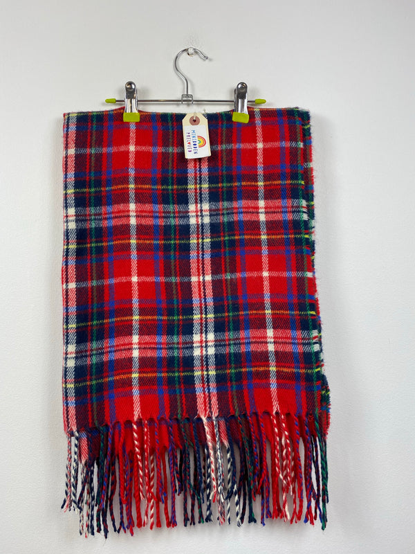 Red Tartan Scarf (One Size)