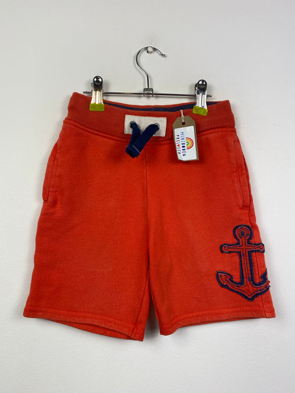 Red Appliqué Anchor Jogger Shorts (5 Years)