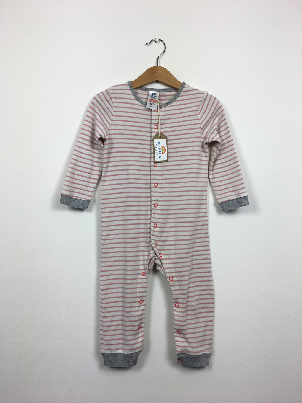 Pink Stripy Sleepsuit (12-18 Months)
