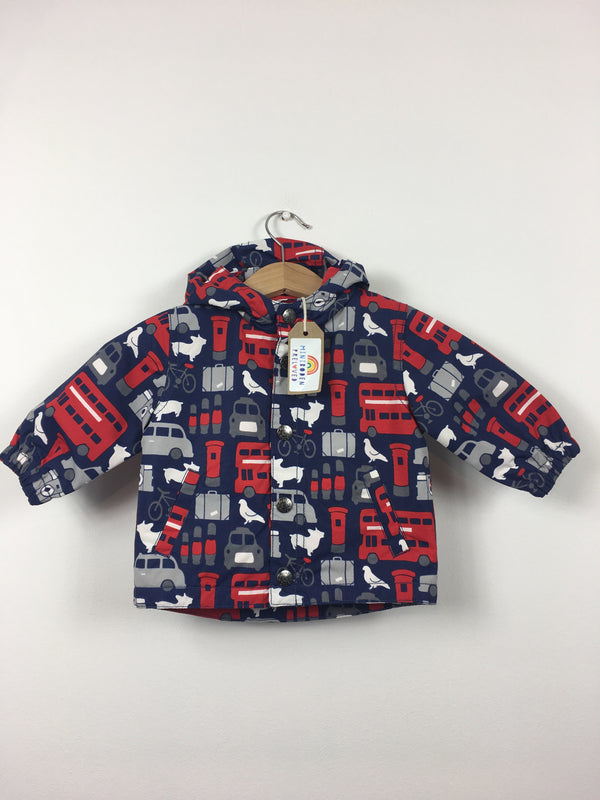 273f08be London Print Fleece Lined Jacket (3-6 Months)