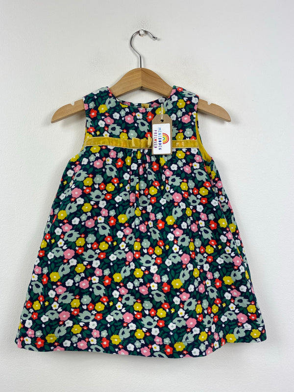Dark Floral Cord Pinafore Dress (12-18 Months)