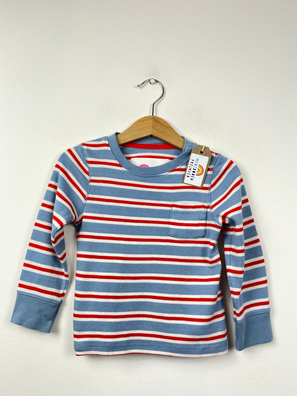 Power Blue & Red Stripy Top (2-3 Years)