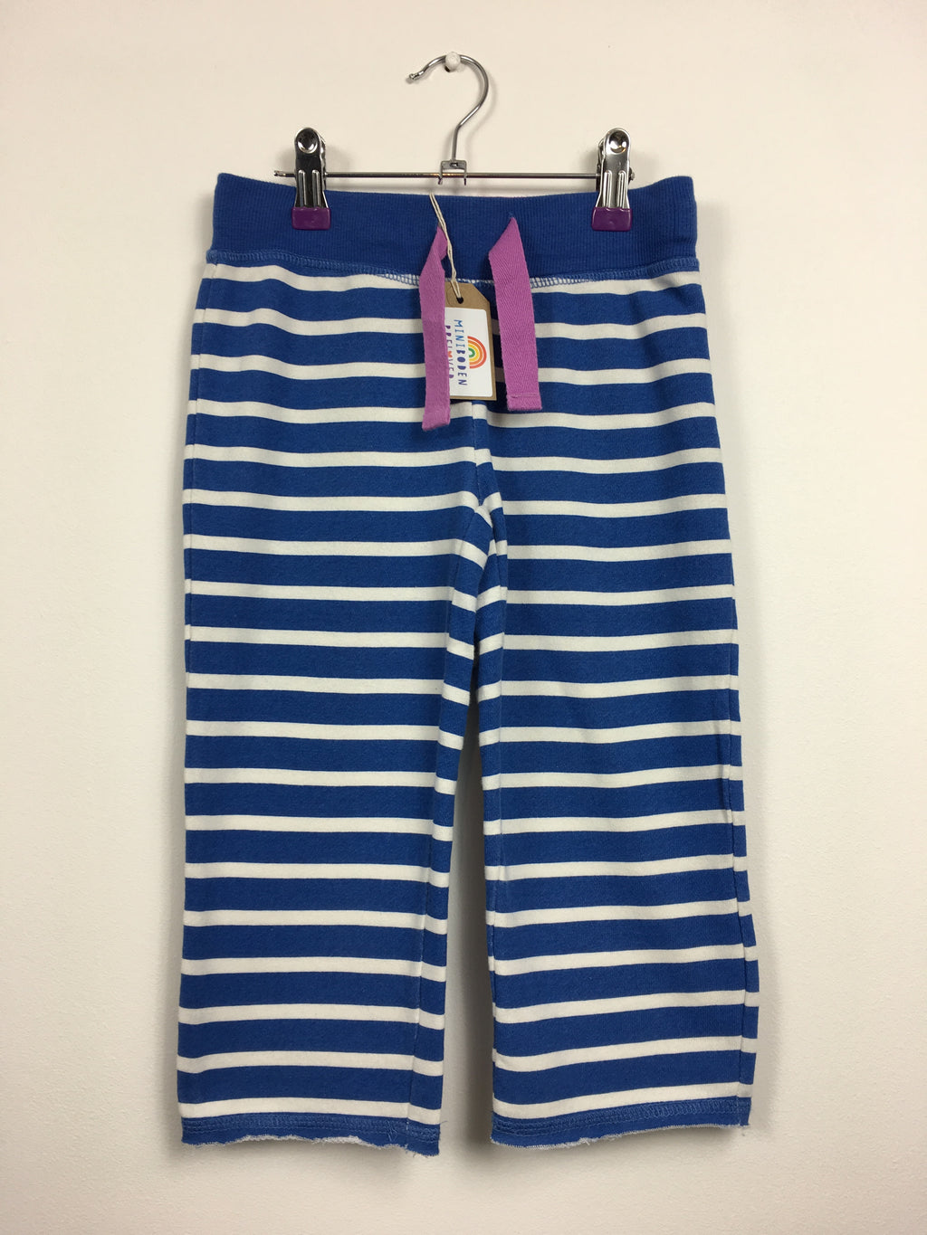 Blue Stripey Long Jogger Shorts (7 Years)