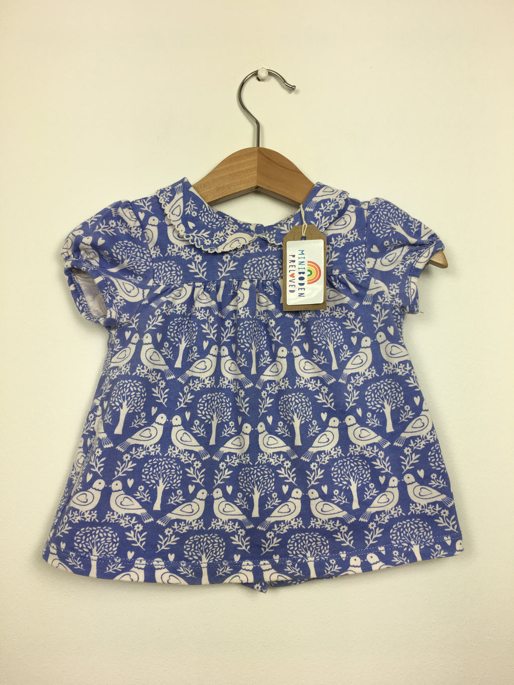 Blue Bird Print Blouse (6-12 Months)