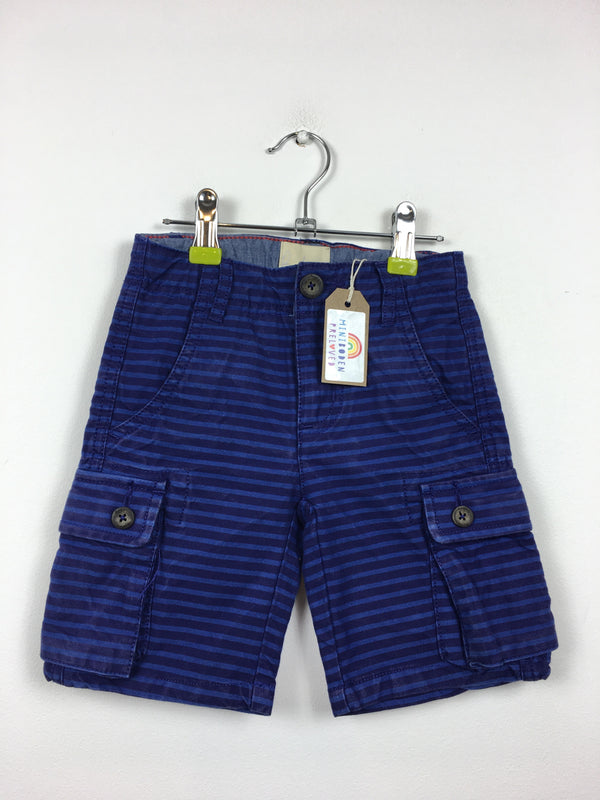 Blue Stripy Button Up Shorts (3 Years)