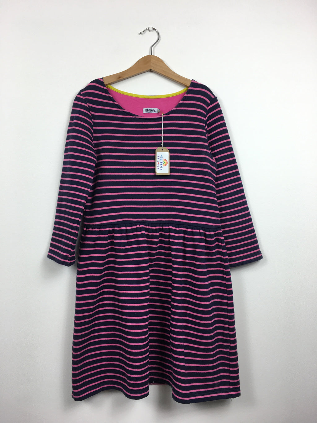 Navy & Pink Long Sleeved Jumper Dress  (11-12 Years)