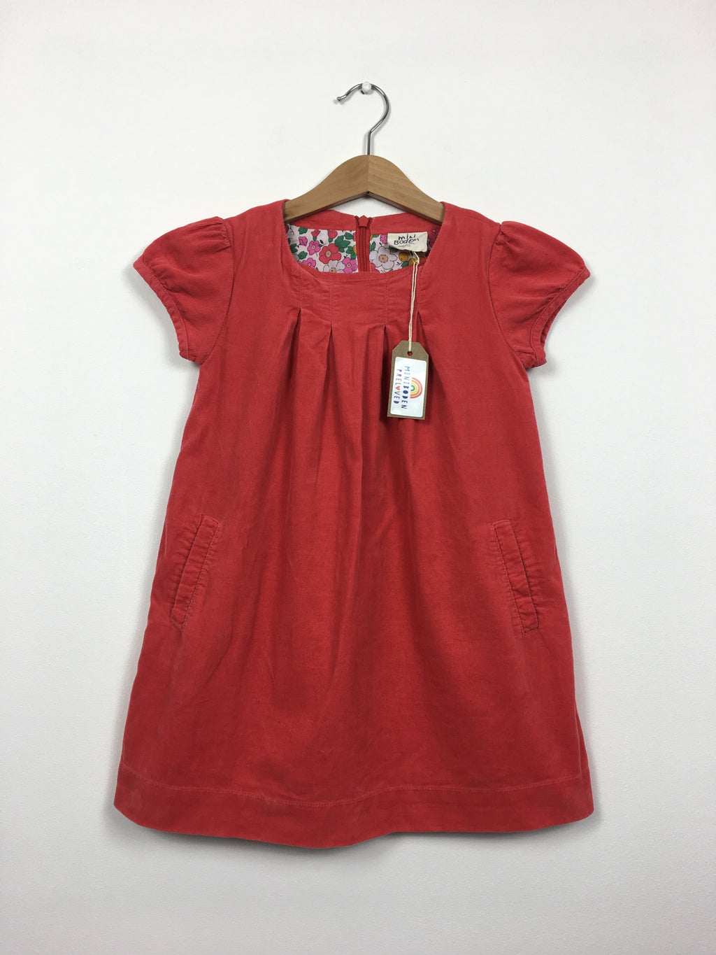 Beautiful Coral Cord Dress (4-5 Years)