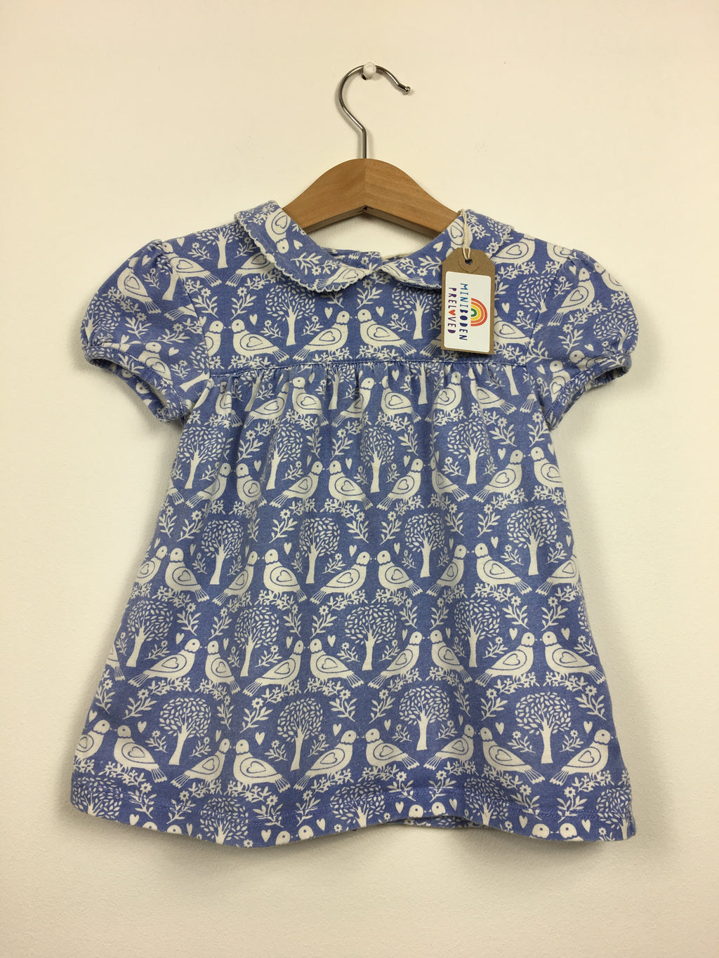 Blue Bird Print Blouse (3-4 Years)