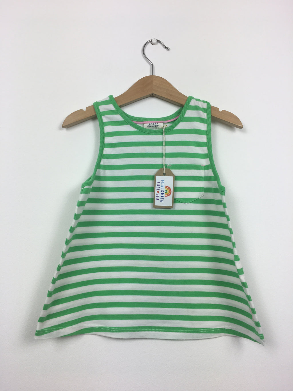 Green & White Stripy Vest (5-6 Years)
