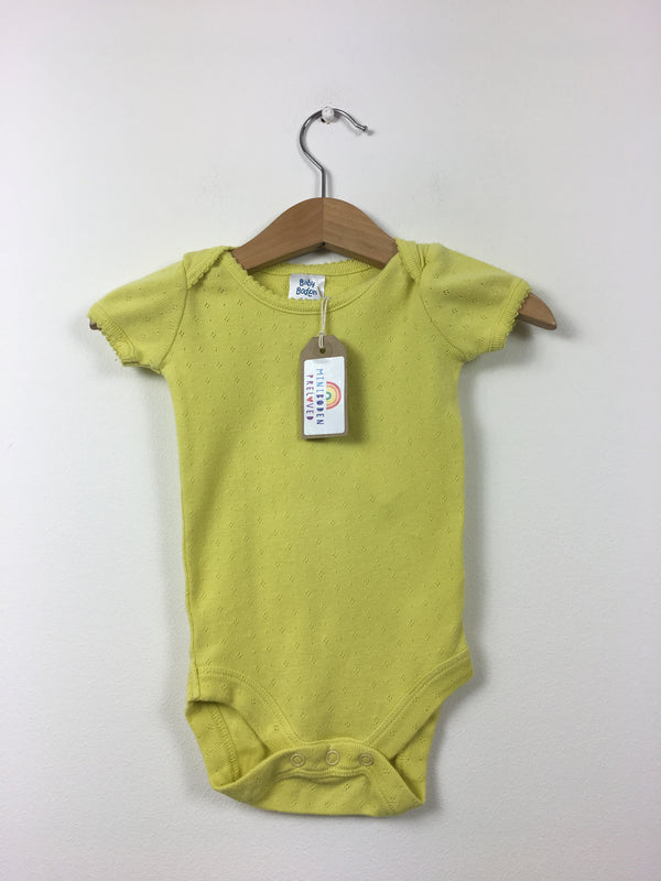 Yellow Pointelle Vest Top (3-6 Months)