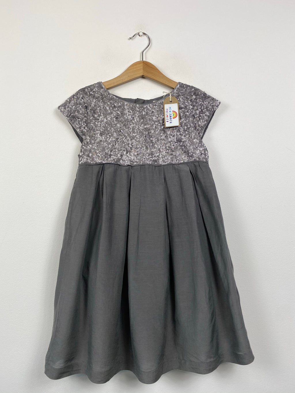 Grey Party Dress With Sequin Detail (6-7 Years)