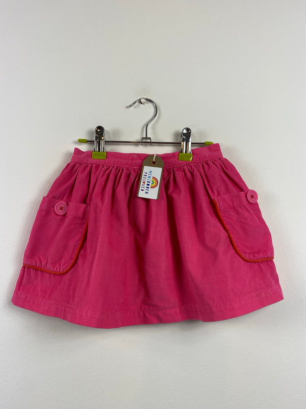 Pretty Floral Lined Pink Cord Skirt (2-3 Years)