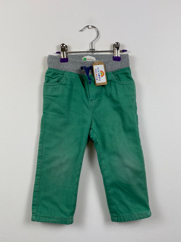 Lined Green Trousers (18-24 Months)