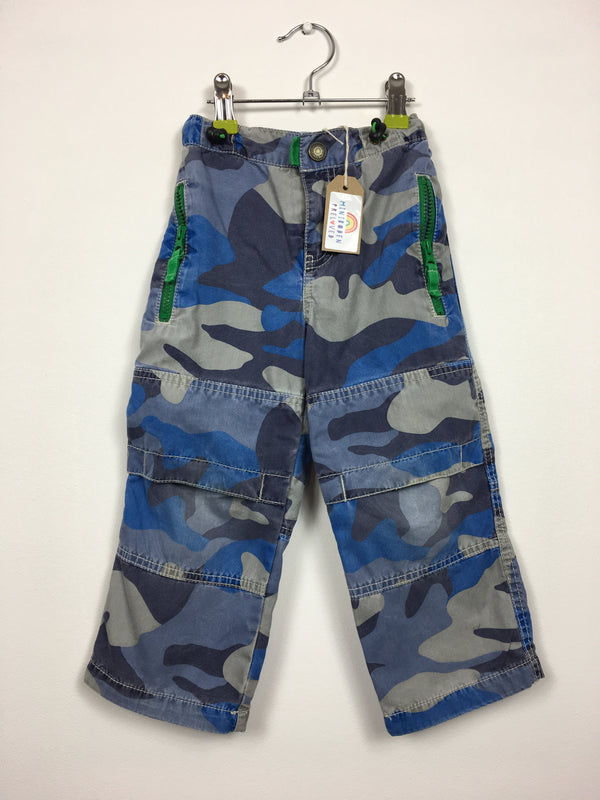 Camouflage Print Cargo Trousers (3 Years)