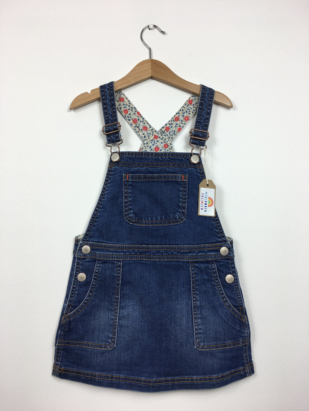 Blue Denim Dungaree Dress (6-7 Years)