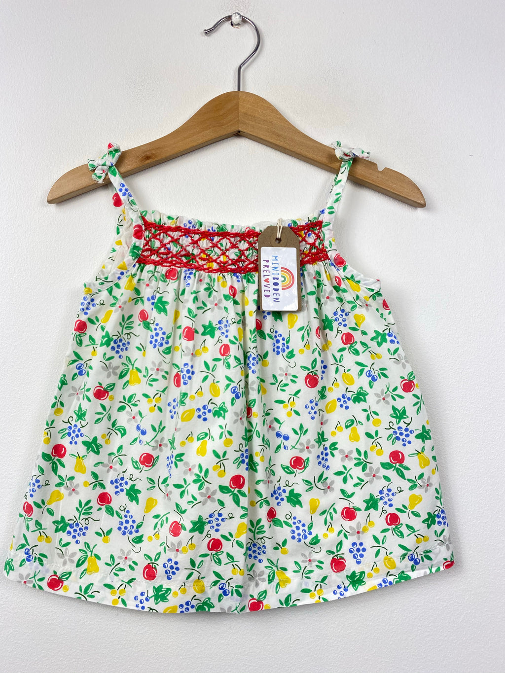 Fruits Patterned Smocked Sun Top (12-18 Months)