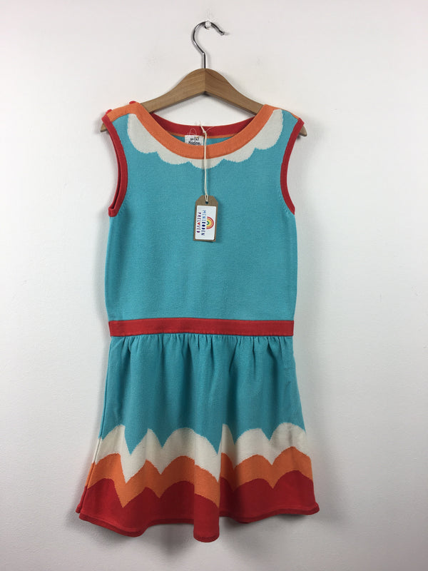 Vibrant Turquoise Knitted Dress (5-6 Years)