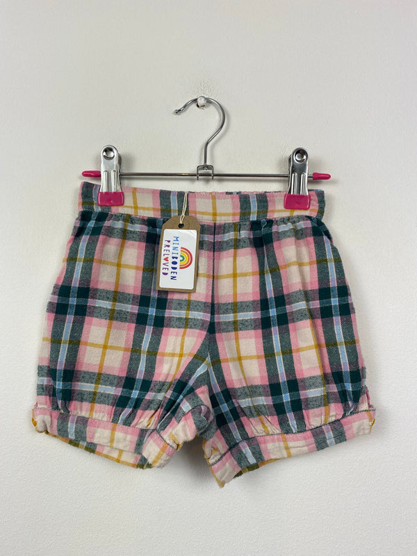 Brushed Cotton Tartan Shorts (18-24 Months)
