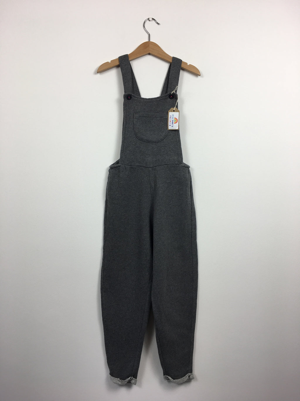 Soft Grey Dungarees (6-7 Years)