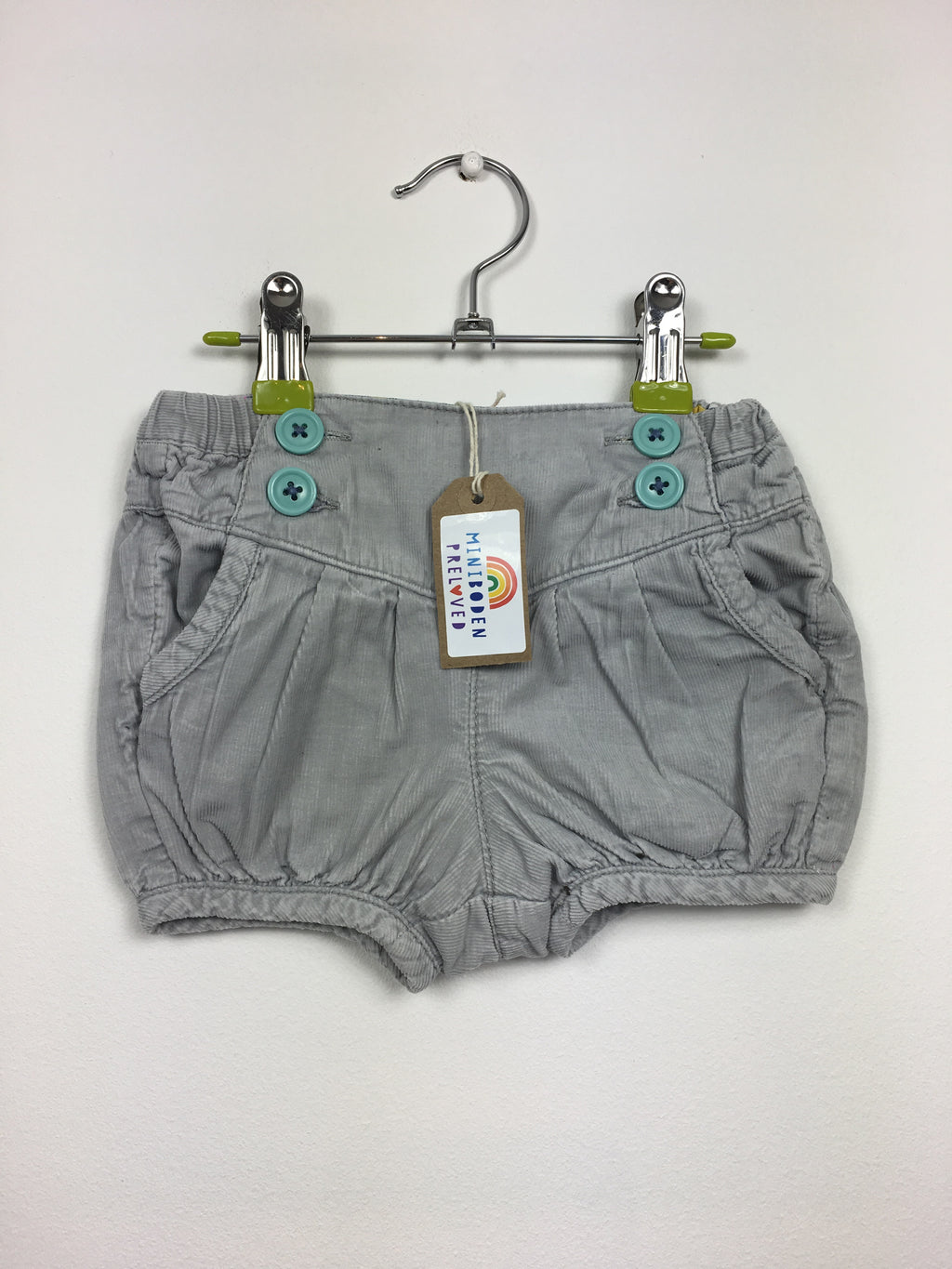 Grey Cord Bloomer Shorts (6-12 Months)