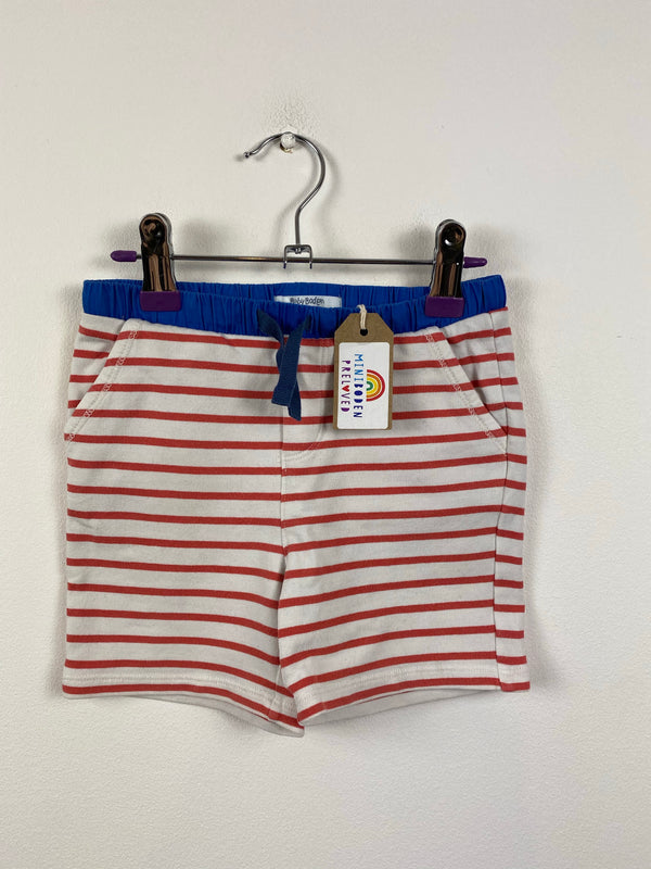 Red & White Stripy Shorts (18-24 Months)