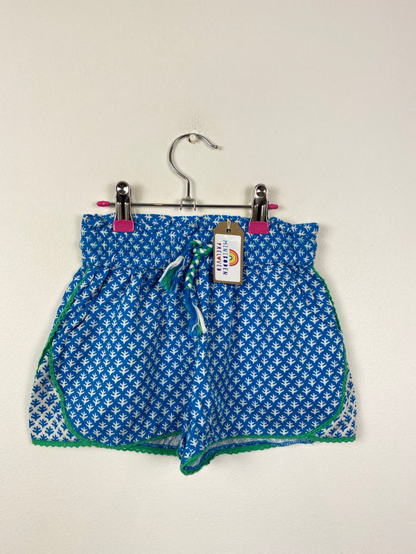 Blue Floral Cotton Shorts (6 Years)