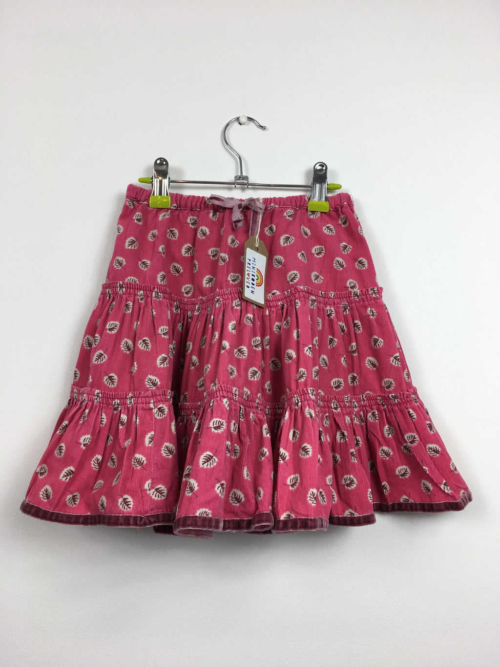 Pink Floral Twirly Cord Skirt  (3-4 Years)
