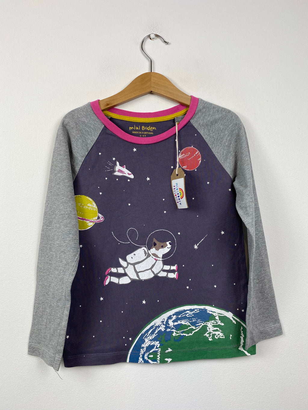 Grey Planet Space Dog Top (5-6 Years)