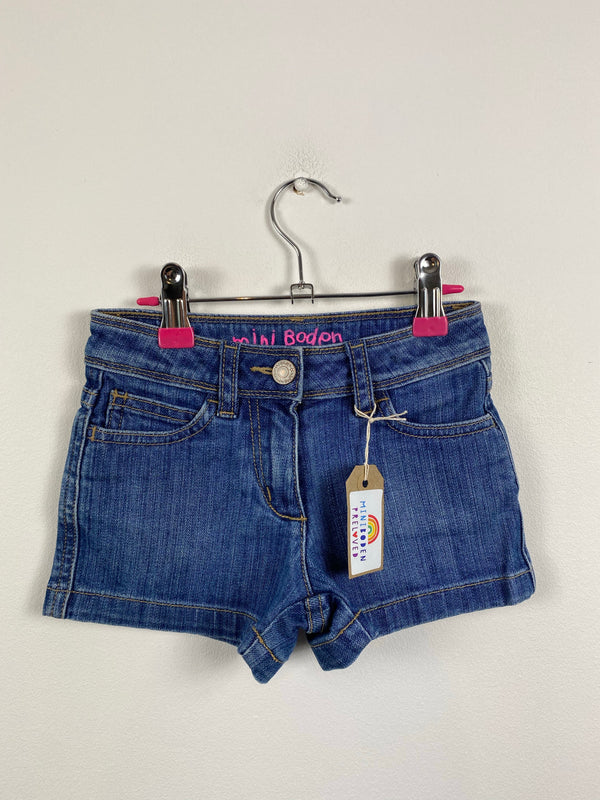 Denim Heart Patch Pocket Shorts (3 Years)