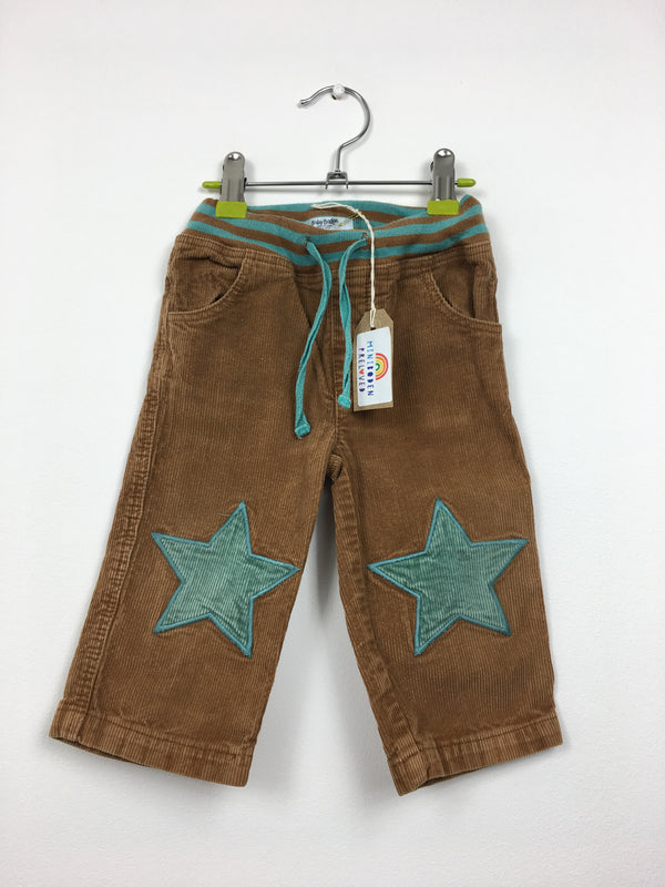 Brown Star Patch Cords (12-18 Months)
