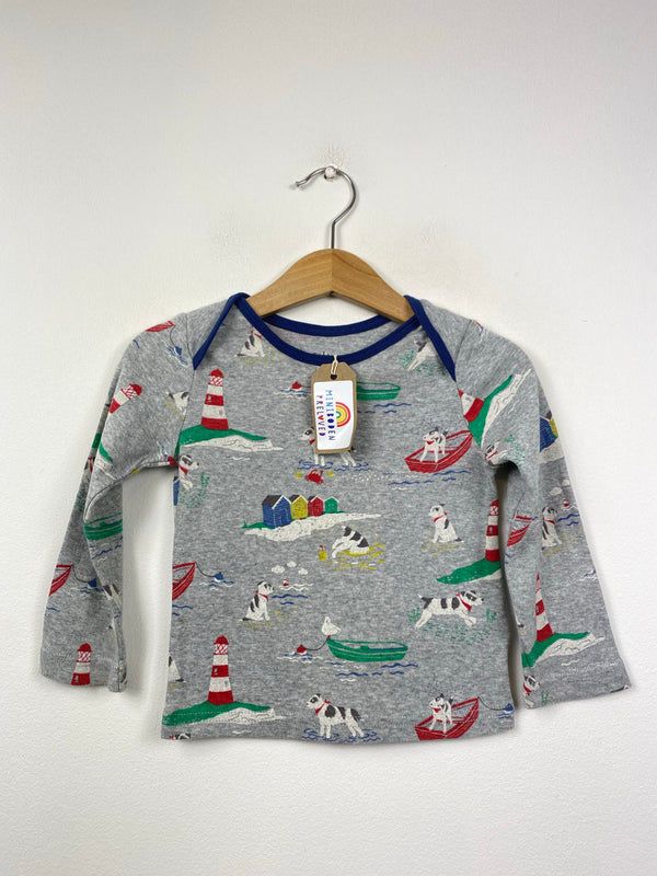 Seaside Dog Patterned Top (12-18 Months)