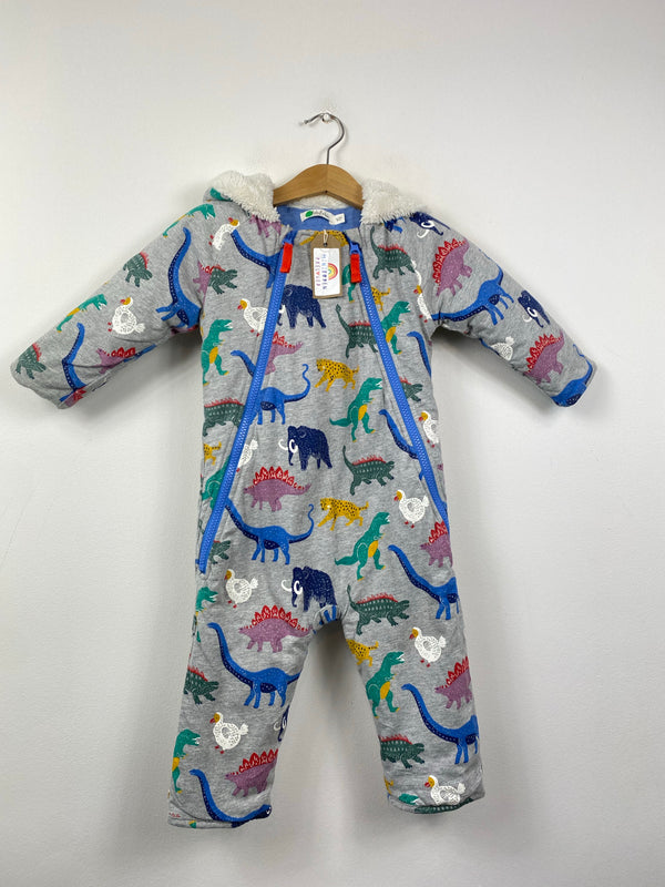 Prehistoric Beasts Patterned Cotton Snowsuit (12-18 Months)