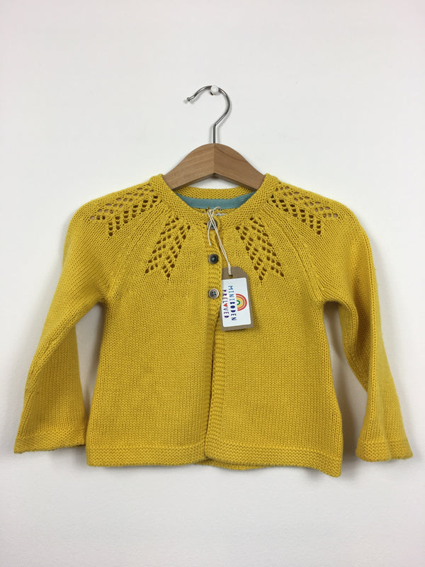 Pretty Detailed Mustard Cardigan (6-12 Months)