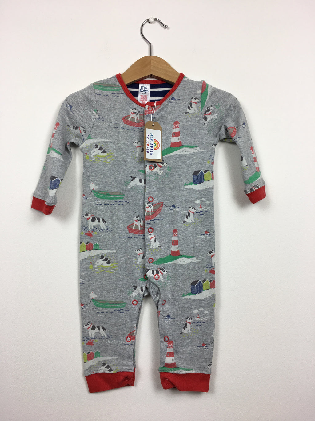 Beach Dog Print Sleepsuit (3-6 Months)