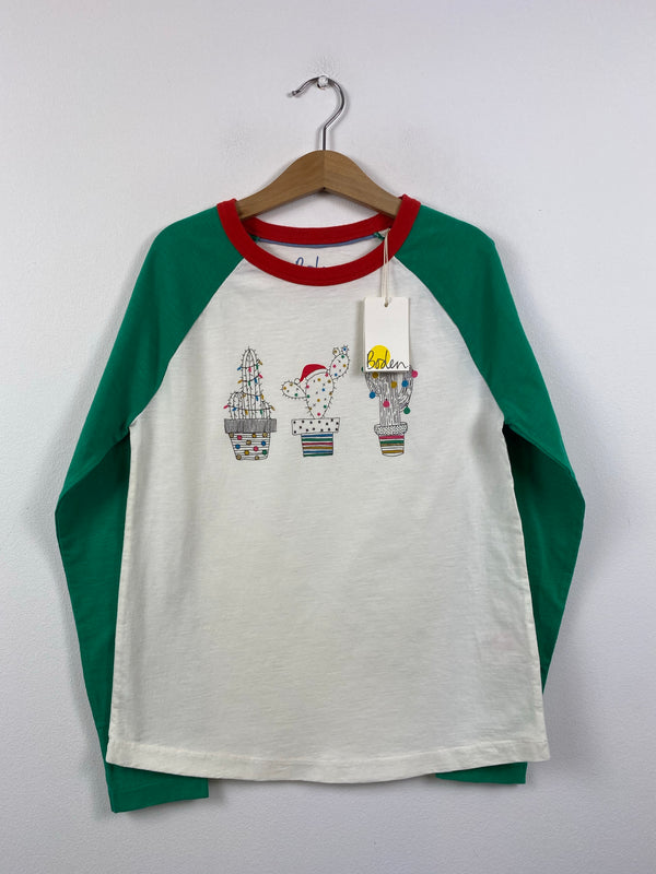 NEW Gorgeous Cactus Christmas Trees Top (9-10 Years)