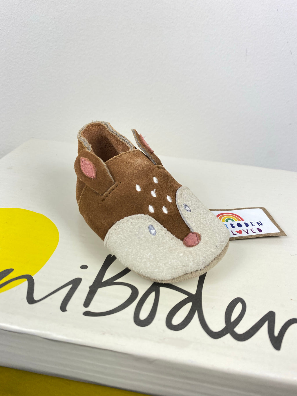 Brown Squirrel Leather Baby Shoes (3-6 Months)
