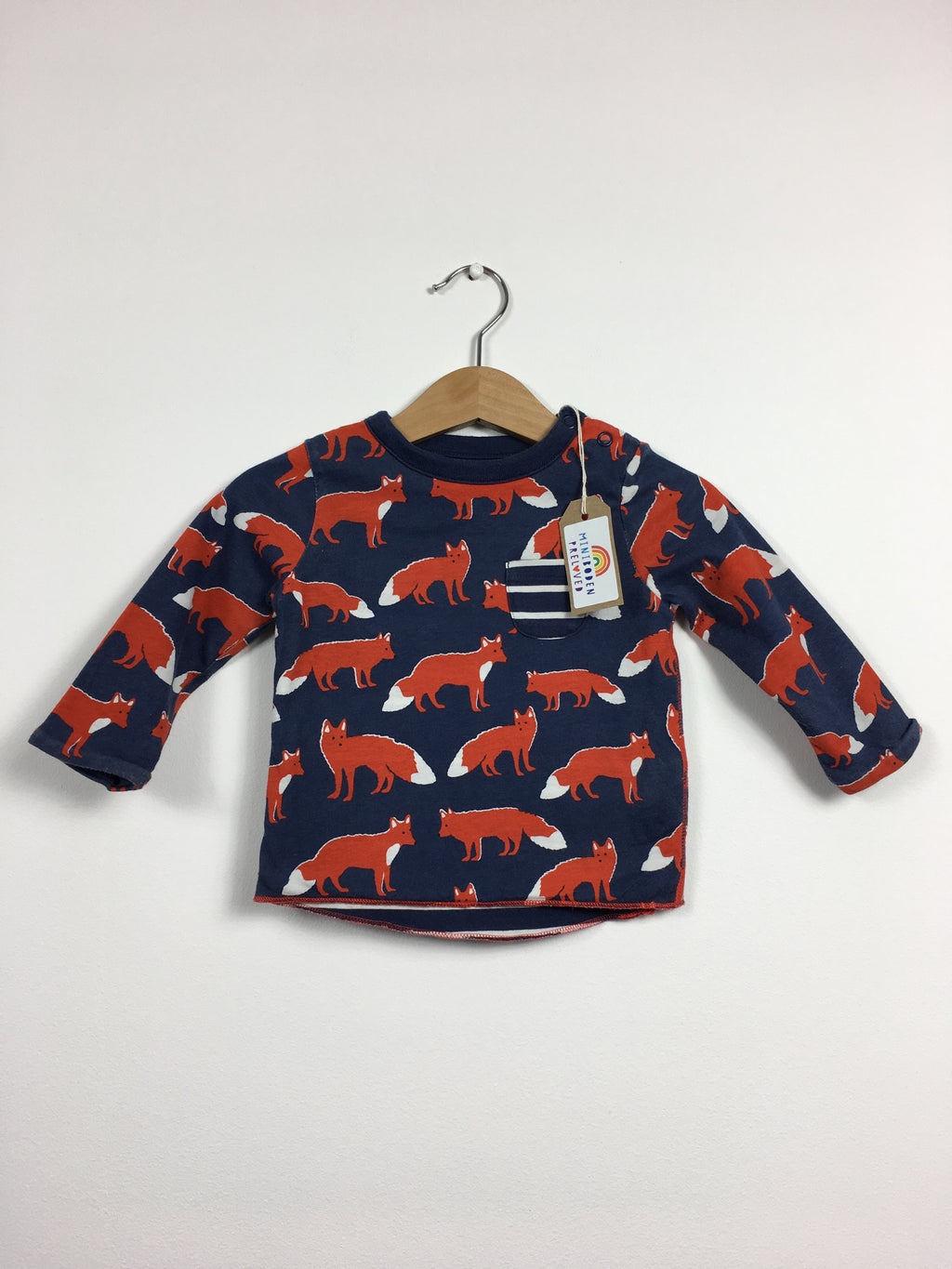 Fox Print Reversible Top (Age 3-6 Months)