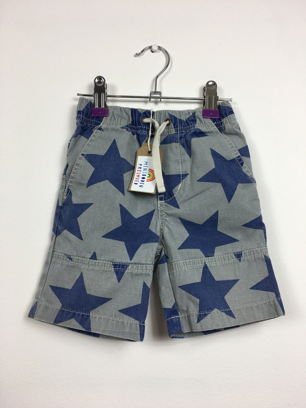 Grey Star Print Shorts (12-18 Months)