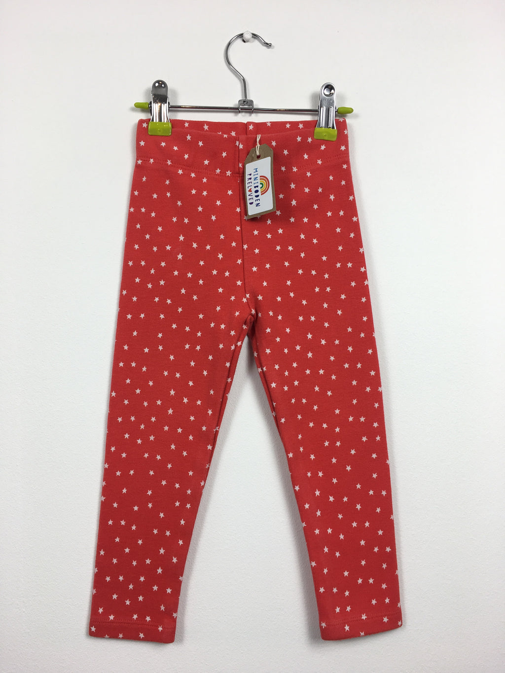 Red Star Print Thick Leggings (2-3 Years)