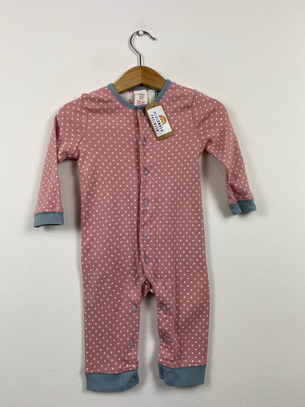 Pretty Polka Dot Pink Sleepsuit (3-6 Months)