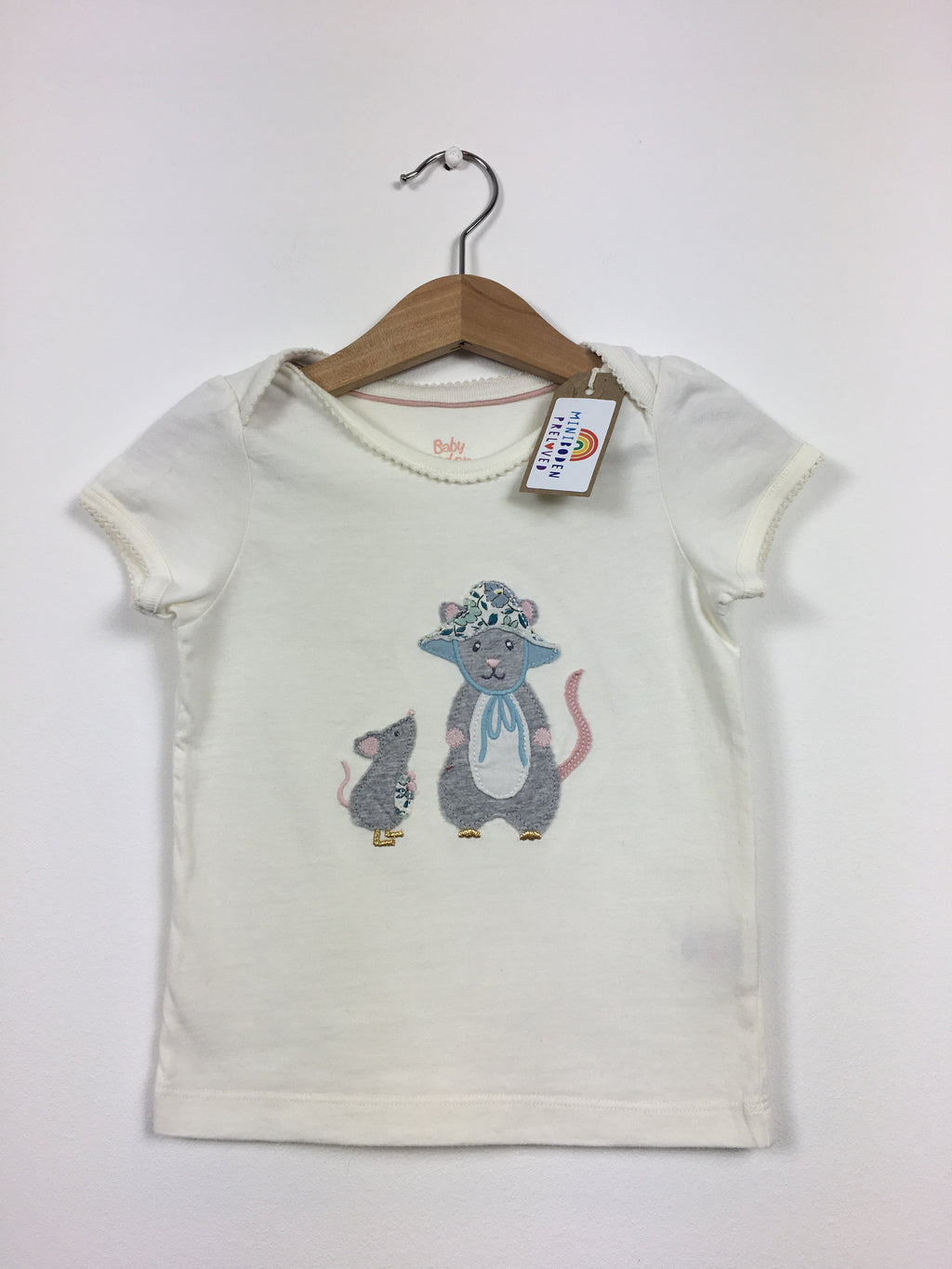 Sweet Appliqué Mouse Top (Age 12-18 Months)